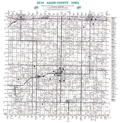 Picture of Adair,IA Rural Resident Wall Map-2018