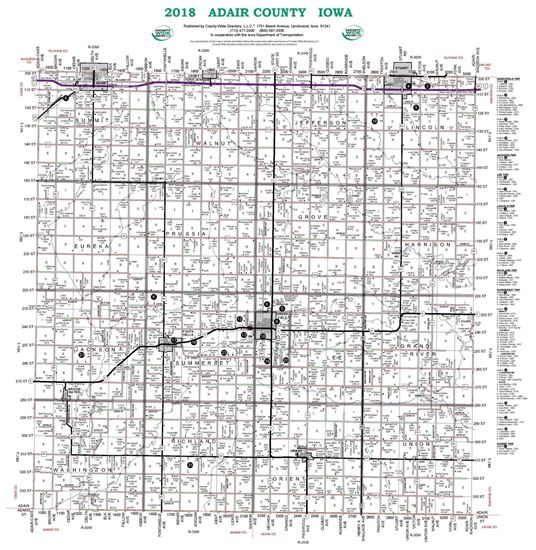 Picture of Adair,IA Rural Resident Wall Map