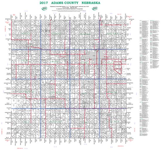 Picture of Adams,NE Plat Wall Map