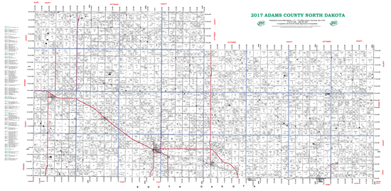 Picture of Adams,ND Plat Wall Map