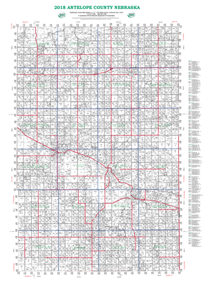 Picture of Antelope,NE Plat Wall Map-2019