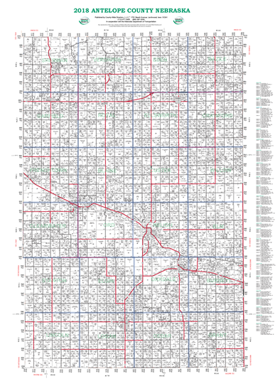 Picture of Antelope,NE Plat Wall Map