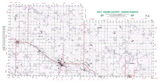Picture of Adams,ND Rural Resident Wall Map