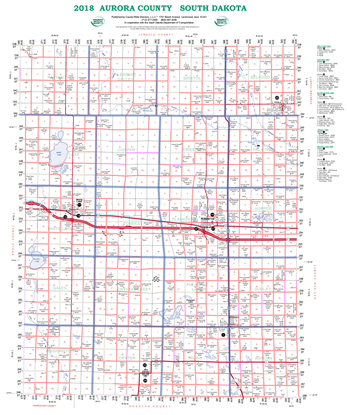 Picture of Aurora,SD Rural Resident Wall Map-2019