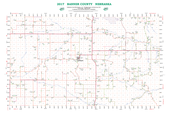 Picture of Banner,NE Rural Resident Wall Map