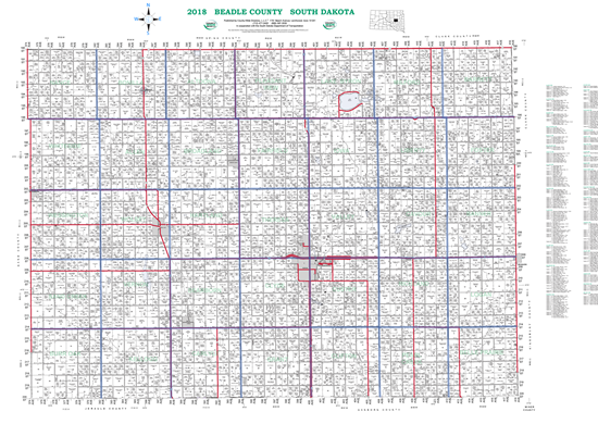 Picture of Beadle,SD Plat Wall Map