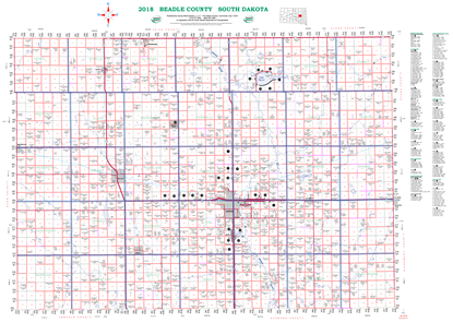Picture of Beadle,SD Rural Resident Wall Map-2018