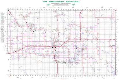 Picture of Bennett,SD Rural Resident Wall Map-2018