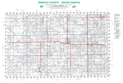 Picture of Jerauld,SD Plat Wall Map-2019