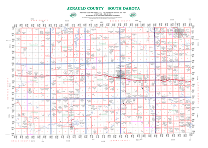 Picture of Jerauld,SD Rural Resident Wall Map-2019