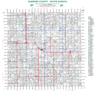 Picture of Sanborn,SD Plat Wall Map