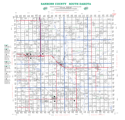 Picture of Sanborn,SD Rural Resident Wall Map