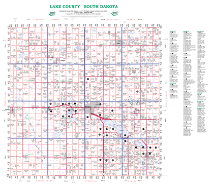 Picture of Lake,SD Rural Resident Wall Map-2019