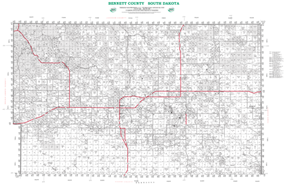 Picture of Bennett,SD Plat Wall Map