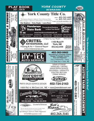 Picture of York,NE Directory (w/ Plats)