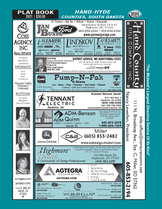 Picture of Hand-Hyde,SD Directory (w/ Plats)